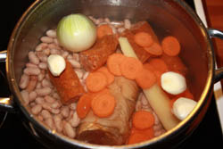 Cooking bean soup